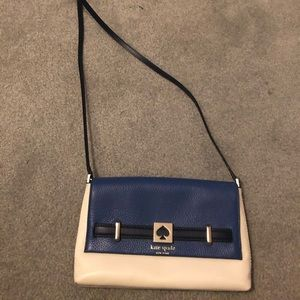 Kate Spade blue & white purse